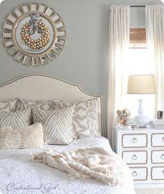 Beautiful grey bedroom