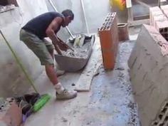 PAREDES EM BLOCOS NOS 4 CANAIS REBOCANDO' WALLS IN BLOCKS IN パレデス 4 CHAN...