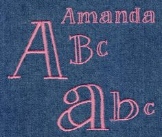 345 Amanda Open Face Satin Font - Jolson's Designs
