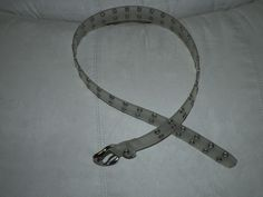 """clear plastic 1.25"""" wide double holes entire belt Medium fits 30-35"""" waist #unknown"""