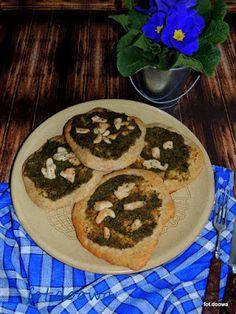 Moje Małe Czarowanie: Jemeński, płaski chleb z pastą z kolendry