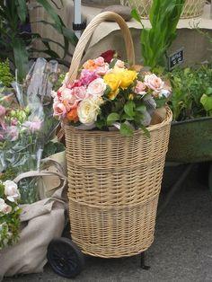 i want...a market flower basket