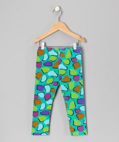 Take a look at this Green Heart Leggings - Girls by Sweet Bluette on #zulily today!