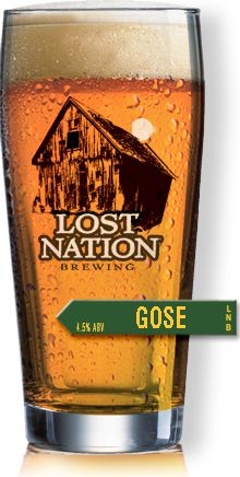 """Gose """"An amazingly refreshing beer brewed with coriander and sea salt. The tart, dry finish combined with the hint of salt and citrus leaves your palate craving another sip."""" Lost Nation Brewing, Morrisville VT (1pt 4.5%) May 2016"""