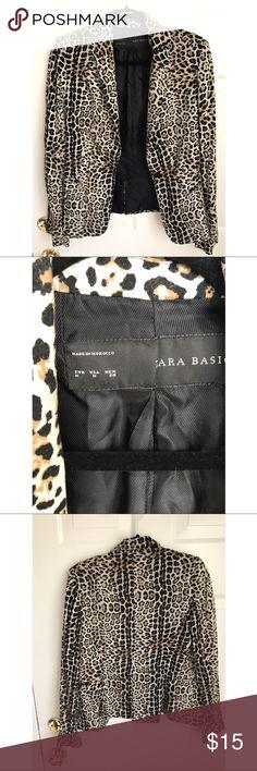 Zara cheetah print blazer size S Trendy Zara blazer size M in cheetah print. Zara Jackets & Coats Blazers