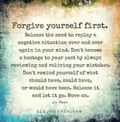 Once you release yourself from your past your future gets even better.