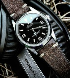 """""""Gears"""" of the day : Rolex Explorer I 36mm Focal Spirit One S (Yes both are great. I do prefer the Explorer tho) #watch #headphones #passion by akajouman"""