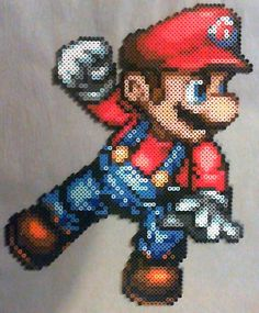 Mario perler bead sprite by phantasm818 on DeviantArt