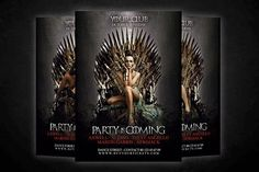 Game Of Thrones Flyer by Graphicfy Templates on @creativemarket