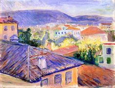 Rooftops in Nice Edvard Munch - 1891