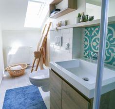 Sink, Bathtub, Bathroom, Decoration, Wall, Blue, Home Decor, Sink Tops, Standing Bath