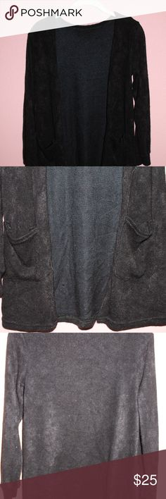 Vintage Furry Black Long Cardigan w Pockets **ZOOM IN FOR DETAILS**  New/Great Condition - Vintage Black Furry Long Cardigan w Pockets Fits S/M  CHEAPER ON MY ETSY SHOP: BVBYPVLEVINTVGE Sweaters Cardigans