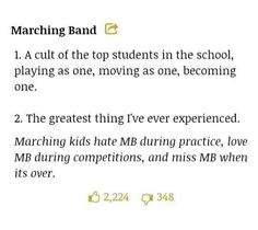 I'm a freshman, and band camp is next week. Just as a concert musician, I can understand most of this. After next week, it'll make more sense than anything else.