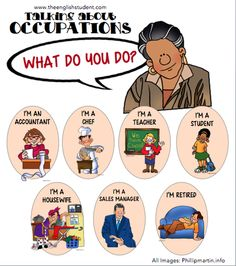Let's talk about occupations!