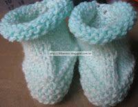 ** BLOG LILIKA TRICÔ - KNITTING **: COM VÍDEO EXPLICATIVO: SAPATINHO DE BEBÊ FÁCIL E R... knitting, tricô, tricot, receita de tricô, sapatinho de tricô, knitting pattern