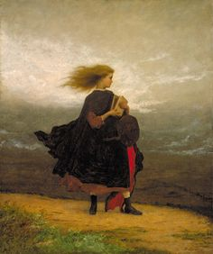 """Eastman Johnson """"The Girl I Left Behind Me"""" Oil on canvas Located in the Smithsonian American Art Museum, Washington DC, United States The painting's title refers to an old Irish. Art And Illustration, Nam June Paik, Winslow Homer, Arte Popular, Oeuvre D'art, Metropolitan Museum, Art Google, Les Oeuvres, Art Museum"""