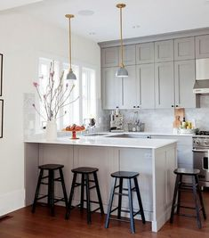 """"" Mount Pleasant Family Home – Remodelista """" View this Best Kitchen Space – Professionals entry in the 2017 Remodelista Considered Design Awards """" Home Kitchens, Kitchen Design Small, Condo Kitchen, Kitchen Remodel Small, Kitchen Design, Modern Kitchen, Home Decor Kitchen, Kitchen Layout, Kitchen Style"