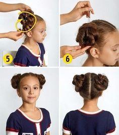 Easy Hairdo for School Easy Little Girl Hairstyles, Quick Hairstyles, School Braids, Baby Girl Hair, My Beautiful Daughter, Medium Long, Ponytail, Hair Inspiration, Short Hair Styles