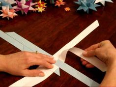 German Folded Paper Star Tutorial Part 1 of 2