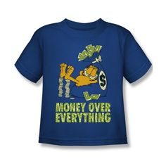 Garfield Comic Money Is Everything Little Boys T-Shirt Tee @ niftywarehouse.com #NiftyWarehouse #Garfield #GarfieldCat #GarfieldTheCat #Comics #JimDavis
