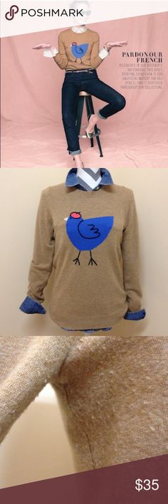 • J. Crew • J. Crew French hen sweater. 55 wool 30 nylon 15 cashmere. Size small. Minor piling under the arms. Excellent used condition. J. Crew Sweaters Crew & Scoop Necks