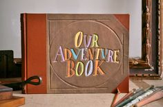 Up Our Adventure Book hand bound Wedding Photo Album, via Etsy.