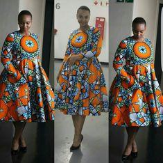 African print Luffy D African Print Dresses, African Print Fashion, African Fashion Dresses, African Dress, Fashion Prints, African Prints, Ankara Fashion, Ankara Gown Styles, Ankara Dress