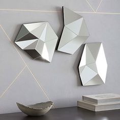 3D Faceted Mirrors #westelm