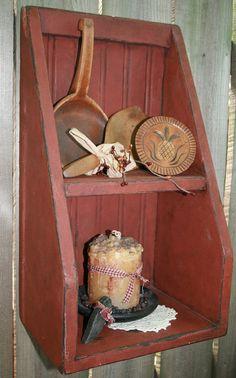 Wood Shelf Primitive Antique Reproduction