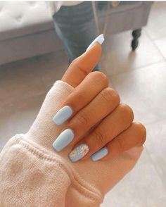In look for some nail designs and some ideas for your nails? Listed here is our set of must-try coffin acrylic nails for trendy women. Acrylic Nails Coffin Short, Blue Acrylic Nails, Simple Acrylic Nails, Summer Acrylic Nails, Simple Nails, Coffin Nails, Yellow Nails, Nail Pink, Metallic Nails