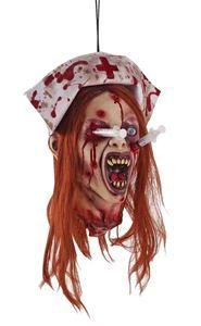 Zombie Nurse Head Hanging Prop