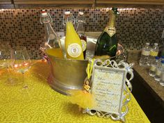 Champagne Bar-magical mimosas, enchanted rose, and belle-inis. Complete with princess peach, orange, and cranberry juice. Girl Birthday, Birthday Parties, Beauty And The Beast Party, Champagne Bar, Enchanted Rose, Peach Orange, Mimosas, Cranberry Juice, My Beauty