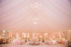 A Pretty Pink, Gold & Glitter Reception Decor By Nisie's Enchanted - Nigerian Wedding