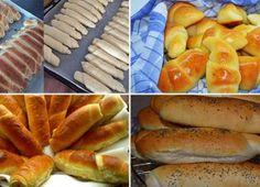 NapadyNavody.sk   Vysoké krémové rezy Hot Dog Buns, Hot Dogs, Herbs, Bread, Baking, Food, Basket, Lasagna, Brot