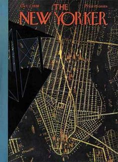 Aerial view of Manhattan on the cover of the New Yorker, 1930