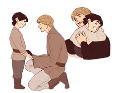 Luke Skywalker and Kylo Ren