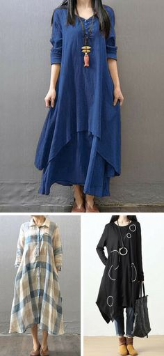 Casual dresses for fall, free shipping worldwide at rosewe.com.