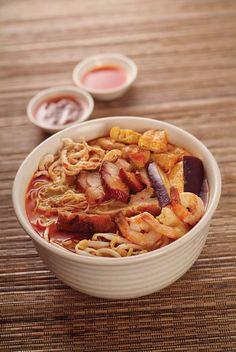 Asian food - Curry noodle soup