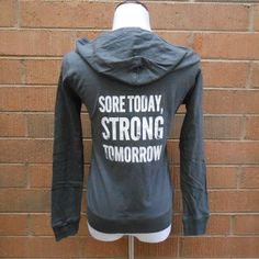 Sore Today Strong Tomorrow Workout Hoodie. by StrongGirlClothing, $27.99