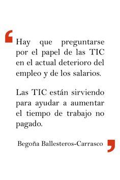 Begoña Ballesteros-Carrasco en «Usos socioeconómicos de las TIC relacionados con el empleo en Europa».