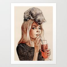 Addicted to Love Art Print by Helen Green - $15.00