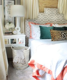 Crane and Canopy Designer Bedding as seen in The Hunted Interior