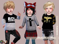 Sims 4 CC's - The Best: Boy London Sweat for toddler by Karzalee