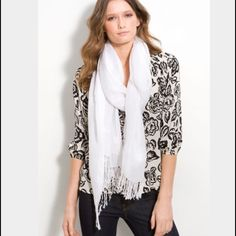 WHITE IVORY OFF WHITE SCARF. Beautiful scarf. New. Very warm for cold days! I love this fabrics because they r warm and light, color goes with everything AND! It doesn't get stuck on zippers or earrings like other scarfs. Retails $45. Posh takes 20% fee so pls be kind with offers. 5 star seller and Suggested user on many platforms! Ships same day for free! Posh doesn't let me pick free shipping so I have discounted twice to cover shipping fee 🎁 see more items in my closet! Accessories…