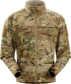 Combat Jacket MultiCam Men's Durable, breathable softshell jacket designed for maximum movement during high output activity