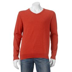 Big & Tall SONOMA Goods for Life™ Solid V-Neck Sweater, Men's, Size: