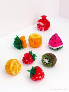food as art! so fun. \\\ How-To: Pom Pom Fruit
