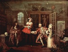 William Hogarth, Marriage à-la-mode (parte III), olio su tela, 1743-1745, National Gallery (Londra, Inghilterra)