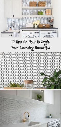 10 Tips On How To Style Your Laundry Beautiful - decor Laundry Room Colors, Laundry Room Wall Decor, Mudroom Laundry Room, Laundry Room Remodel, Laundry Room Bathroom, Laundry Room Design, Modern Laundry Rooms, Large Laundry Rooms, Laundry Room Printables