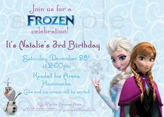 Disney's Frozen Birthday Invitation by EllieBlueDesigns on Etsy, $14.00